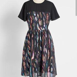 Modcloth metallic party dress size 8